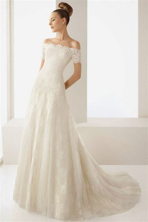 Wedding Blog: Charming Off the shoulder Wedding Dresses