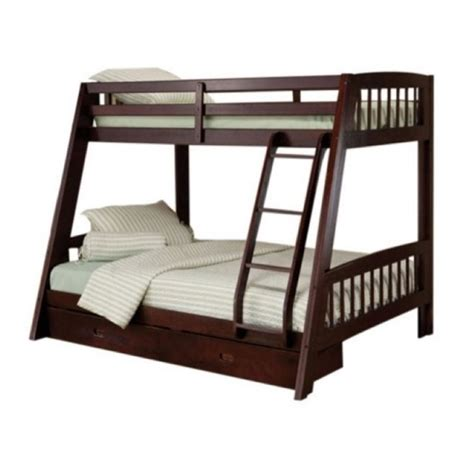 espresso bunk bed rosebery kids twin over full bunk bed set in espresso rk