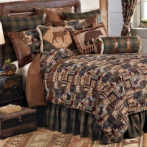 wilderness comforters woodland cabin bed set queen