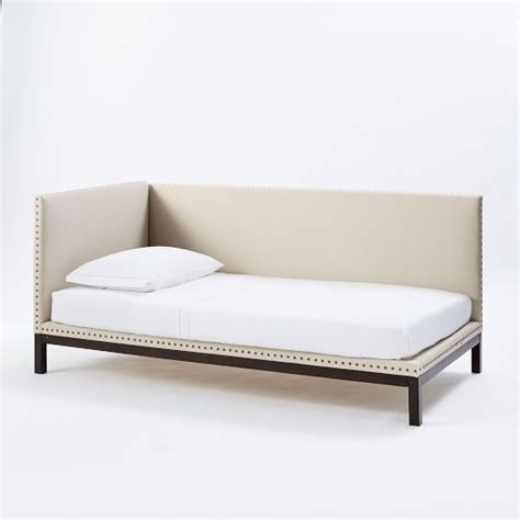 Daybed Mattress Cover Nailhead Upholstered Daybed Mattress Covers West Elm