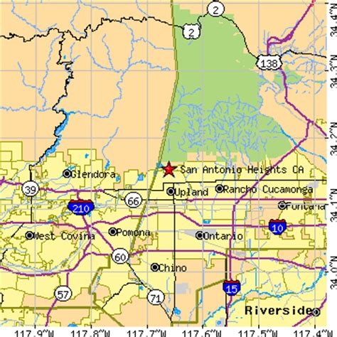 zip code map upland ca san antonio heights california ca population data