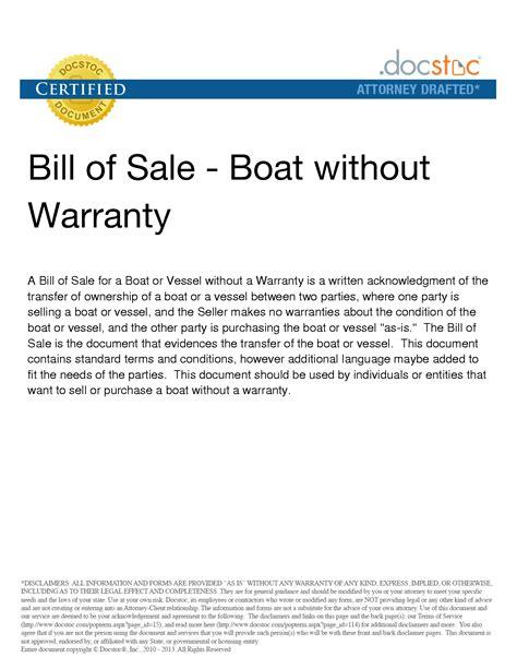 florida bill of sale for boat trailer