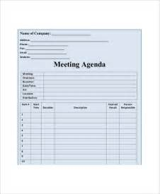 blank will template 11 blank meeting agenda templates free sle exle