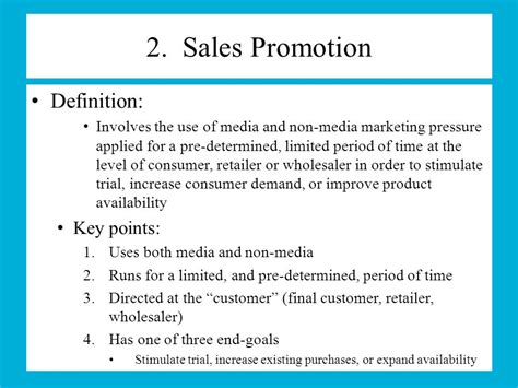 Sales Promotion Letter Meaning Chapter 11 Advertising And Promotion Ppt