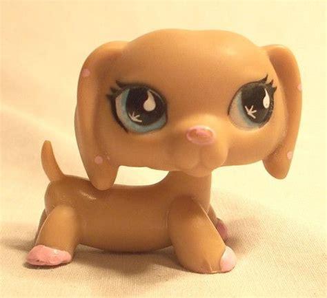 lps wiener dogs littlest pet shop dachshund puppy 909 pink polka dot ears teardrop