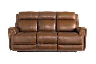 bassett leather sofa bassett marquee umber leather power reclining sofa with