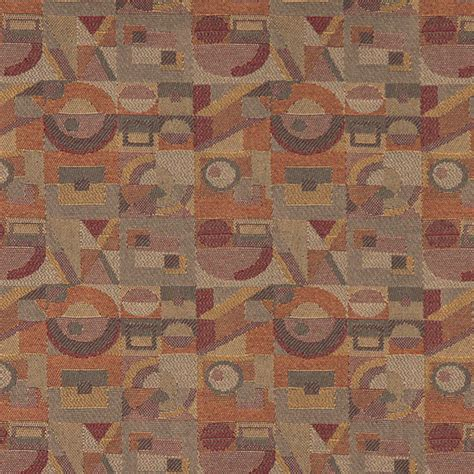 abstract upholstery fabric gold burgundy orange abstract geometric durable upholstery
