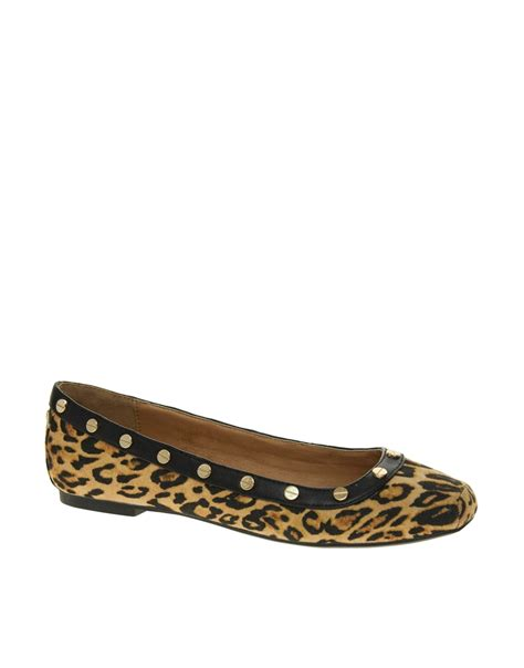 river island flat shoes river island peacan square toe leopard ballerina flat