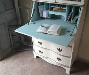Distressed Office Desk Chippendale Style Secretary Desk Painted Distressed E