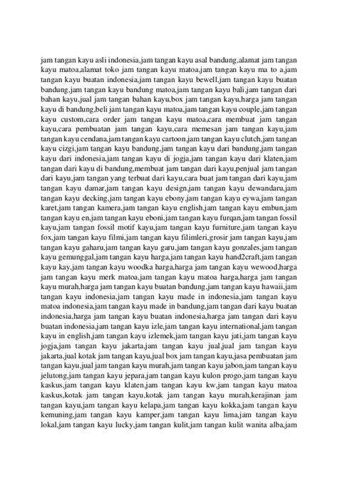 Jam Tangan Kayu Bewell W064a2 wood