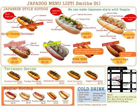 dogs menu ramen burgers n tonkrazy dogs tasty island