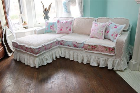 shabby chic sectional sofa vintage by