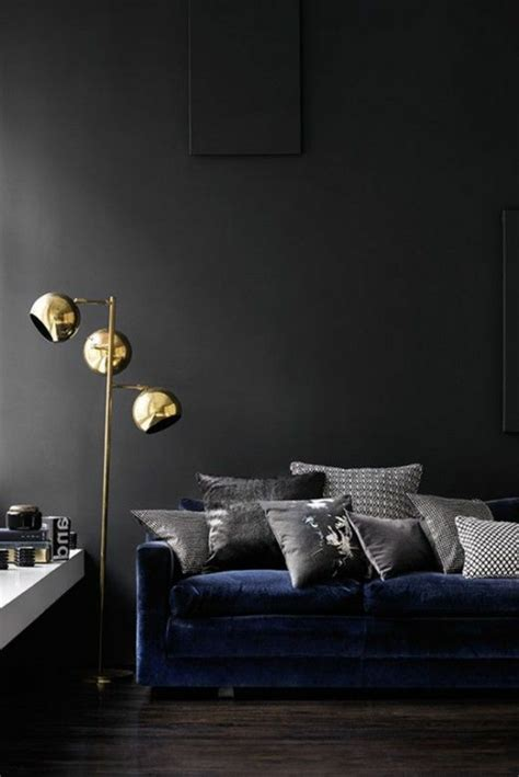 wohnzimmer mit schwarzen möbeln schlafzimmer einrichten mit schwarzem bett