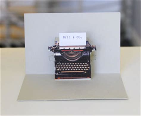 typewriter pop up card template pop goes the diy pop up name card brit co
