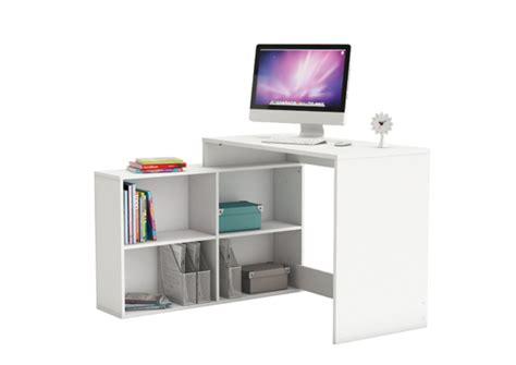 bureau d angle corner blanc