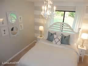 diy bedroom wall livelovediy diy striped wall guest bedroom makeover
