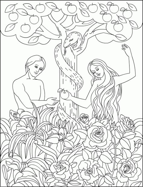 Coloring Page Adam And by Adam And Coloring Pages Coloringpagesabc