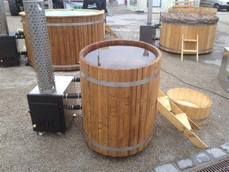 wooden barrel bathtub wood burning hot tub 1 3 meter thermally modified wood