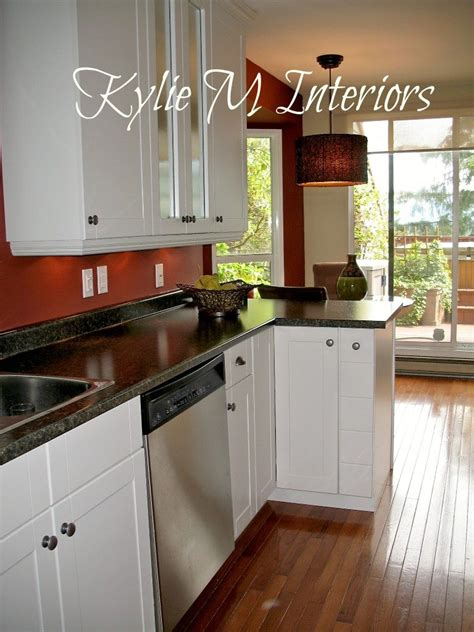 red kitchen walls with oak cabinets budget friendly galley kitchen remodel before and afters