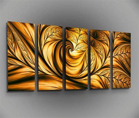 metal art decor for home metal canvas wall art golden beauty framed modern