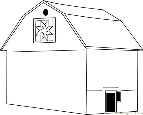 easy barn coloring pages simple of barn coloring pages