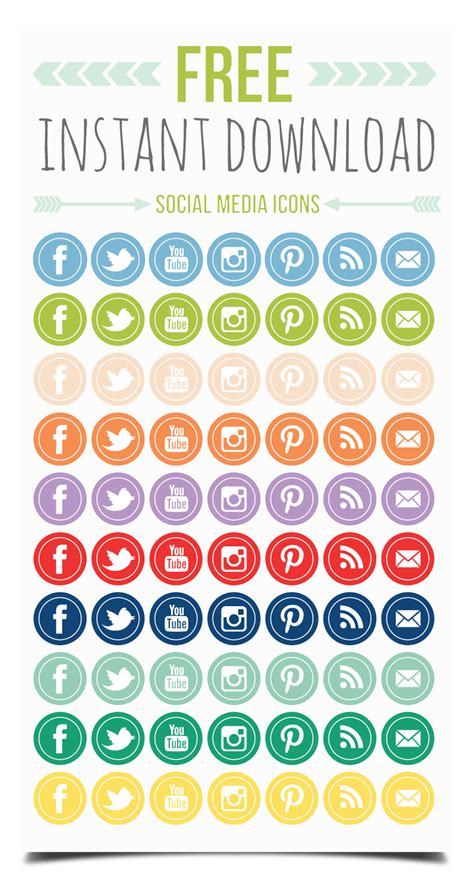 free sosial network icon print smitten free social networking icons
