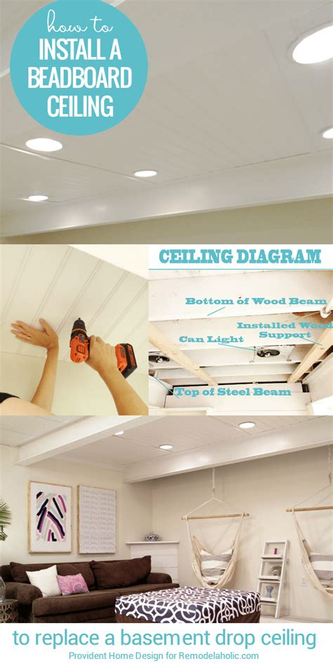 how to hang a l from the ceiling remodelaholic diy beadboard ceiling to replace a