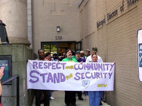 seiu local 615 stands for security with downtown march