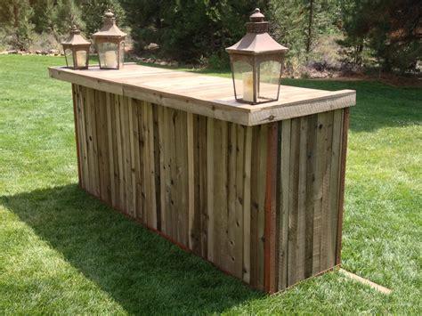 outdoor wood bar top ideas reclaimed cedar wood bar crux events