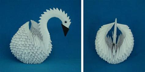 How To Make 3d Origami Swan - origami angsa 3 dimensi fachri s
