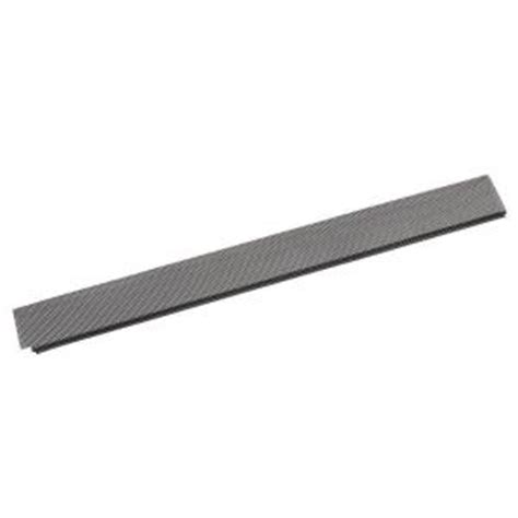 lock on gutter guard 441 503 amerimax home products 5 in x 3 ft black lock on gutter