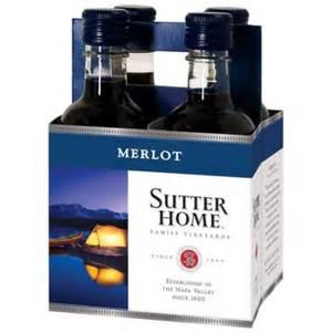 sutter home 4 pack sutter home merlot wine 4 pack 187 ml walmart