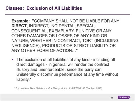 sample for contract agreement limitation of liabilities