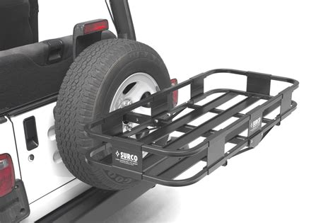 surco sj4319 spare tire rack for jeep 174 vehicles quadratec