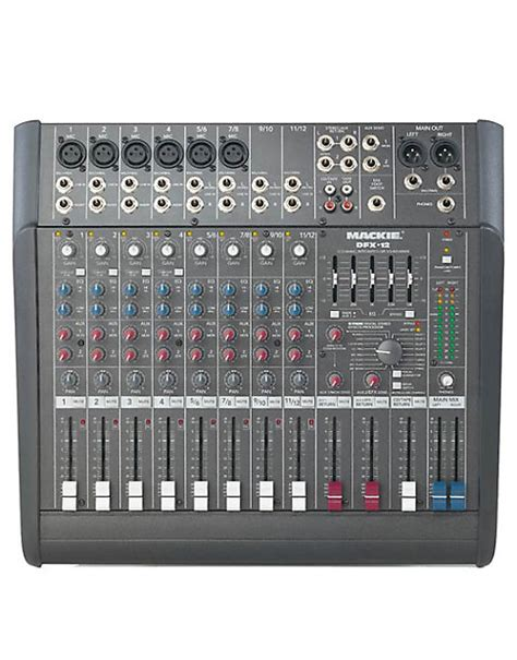 Mixer Efx 12 mackie dfx12 12 channel compact mixer w efx barely used
