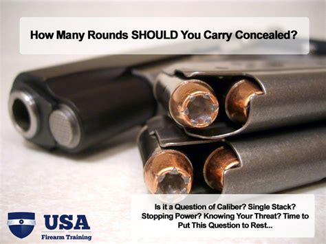 everyday concealed carry how many rounds should you carry concealed everyday