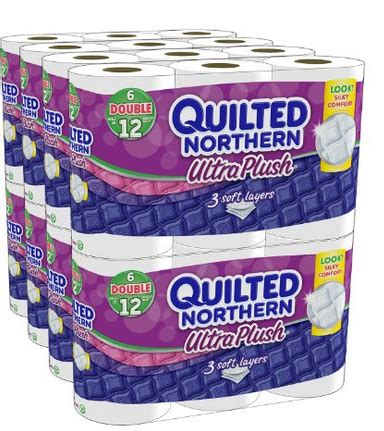 Quilted Northern 24 Rolls by 48 Rolls Quilted Northern Ultra Plush Just 0 24 A Single Roll Shipped Free