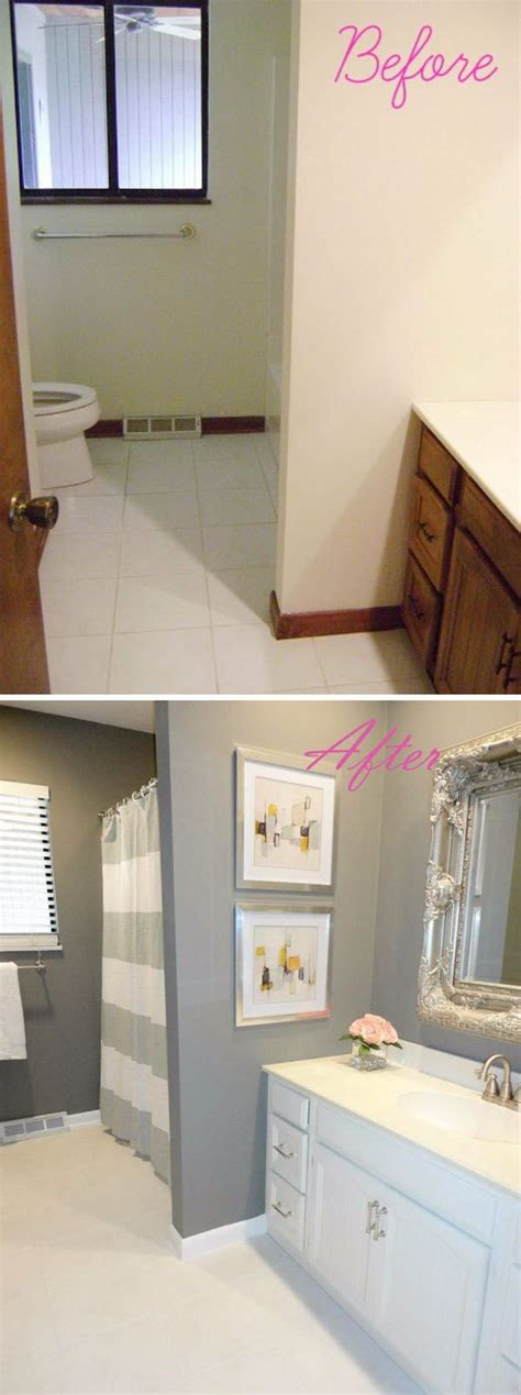 Before And After Bathroom Makeovers On A Budget by Before And After 20 Awesome Bathroom Makeovers Diy