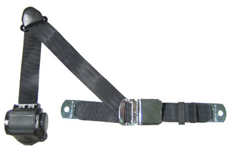 seat belt 3 point retractable seat belt with chrome lift latch ebay