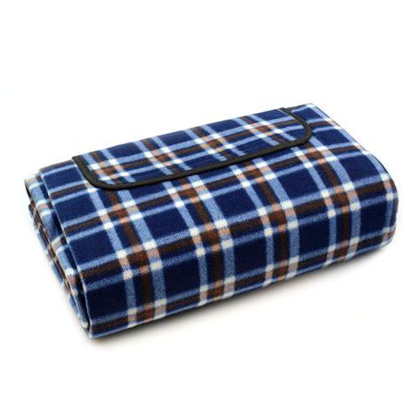 tartan picnic rug waterproof new picnic blanket folding large travel waterproof rug tartan check ebay