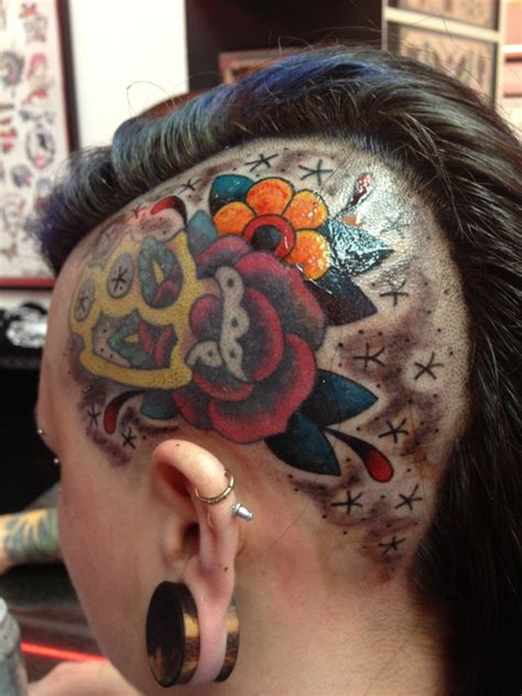 tattoo girl with books in head 20 best girls with brass knuckles tattoos images on