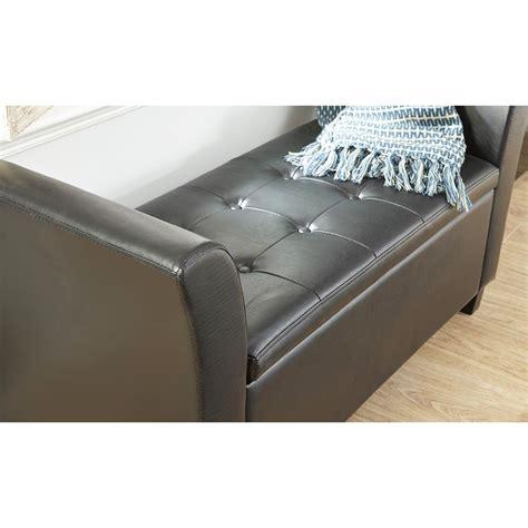 bench box seat verona leather window seat ottoman storage box large