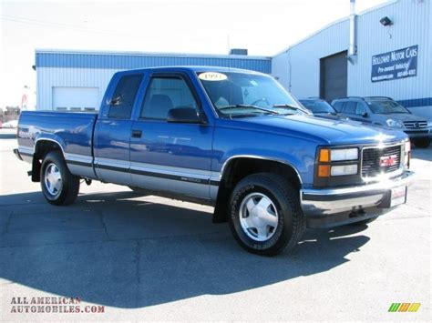 1997 gmc 1500 sle extended cab 4x4 in bright blue