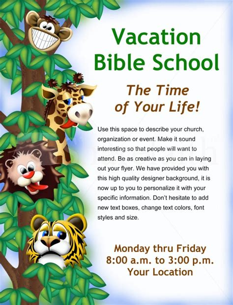 vacation bible school certificate templates vacation bible school flyer template flyer templates
