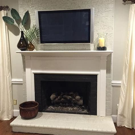 painted brick fireplace before and after the collected interior painted brick fireplace before