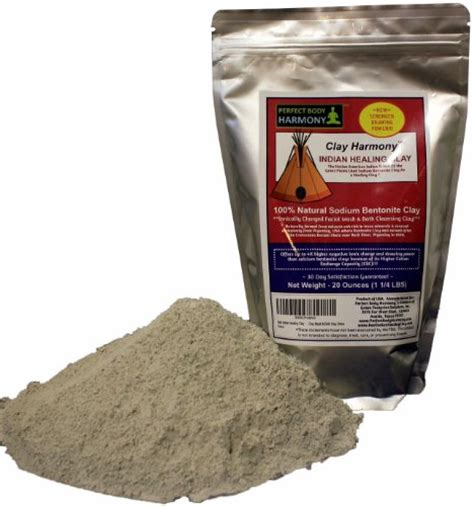 Bentonite Clay Detox Wrap Recipe by Clay Harmony 20 Oz Best Indian Healing Clay Sodium