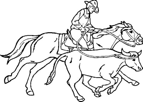 cowboy coloring pages for kids coloring pages