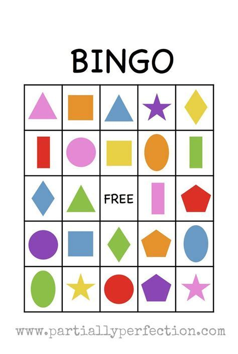 Shape Bingo Card   FREE PRINTABLE   I'm going to use this