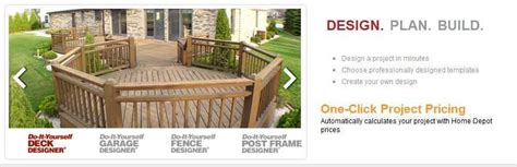 home depot deck design pre planner online deck design program where is it the home depot