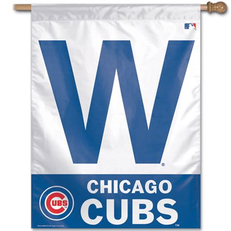 Pow Wall Stickers chicago cubs win w banner and flag wrigley win banner and